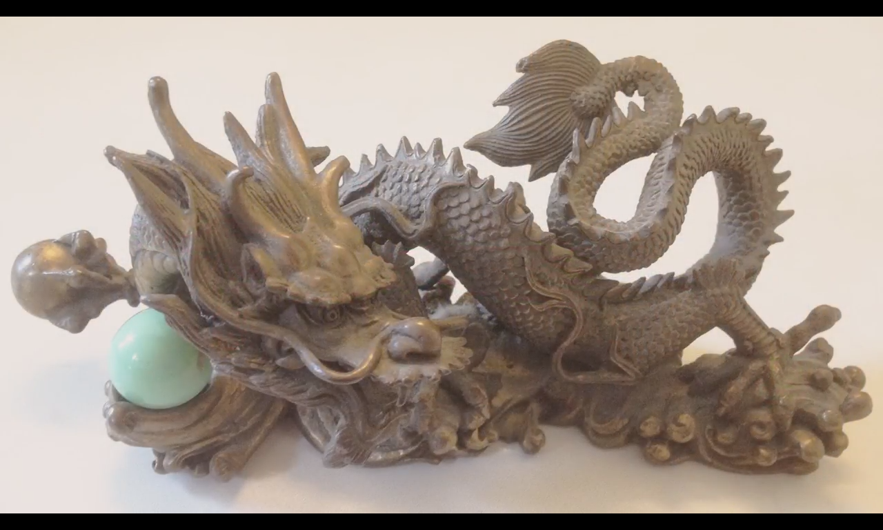 Dragon chinois en bronze