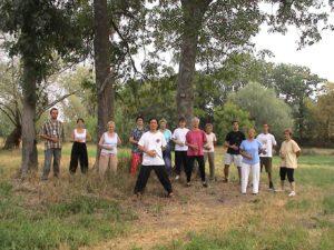 Qi Gong dans la nature, animé par Maître SUN Fa, Académie Tian Long à Lyon