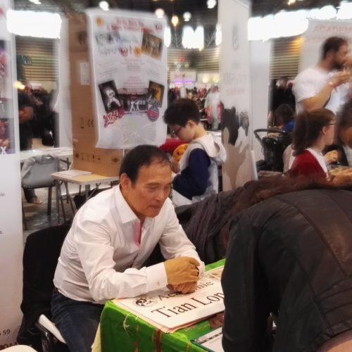 Maître SUN fa au stand de l'Académie Tian Long pour la Japon Touch 2017 à Lyon